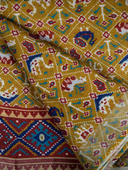 Cotton Semi Linen Fabric With Zari Border