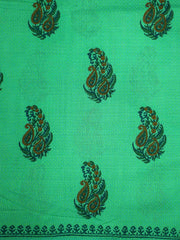 Handloom Cotton Blocked Printed Fabric(Pre Cut Of 1.0)