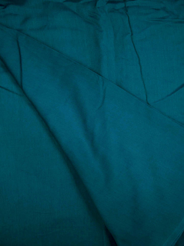 Pure Blue Chanderi Silk Fabric