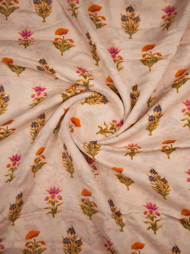 Muslin Silk Printed Fabric