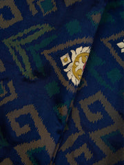 Navy Blue Banarasi Silk Fabric