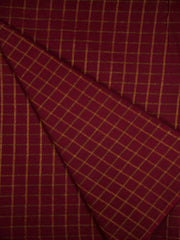 Maroon South Cotton Woven Fabric