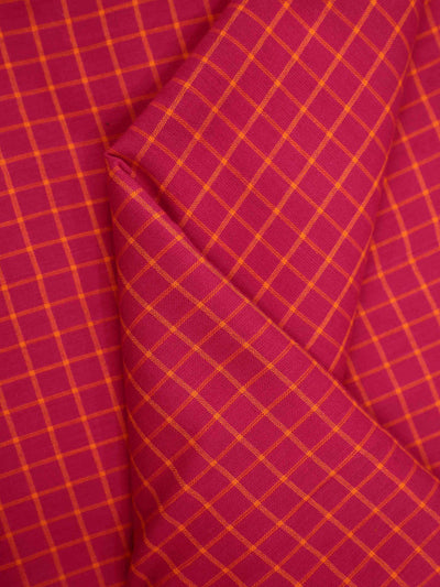 Pre Washed Cotton Checkered Fabric