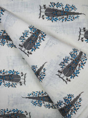 Cotton Slub Block Printed Fabric
