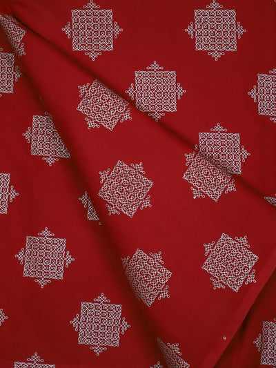 Block Printed Cotton Fabric