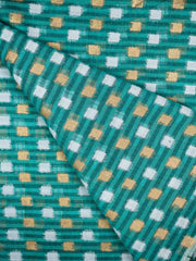 Cotton Chanderi Block Printed Fabric