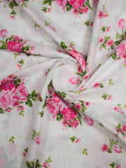 Rayon Slub Digital Printed Fabric