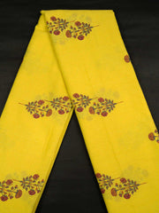 Yellow Mughal Cotton Printed Fabric.