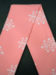 Pink Cotton Printed Fabric