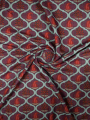 Rayon Slub Printed Fabric(Pre Cut Of 1.5)