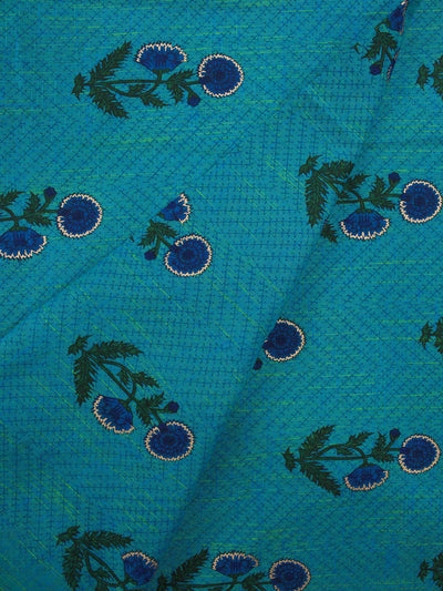Hand loom Cotton Block Printed Fabric
