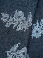 Grey Rayon Printed Fabric