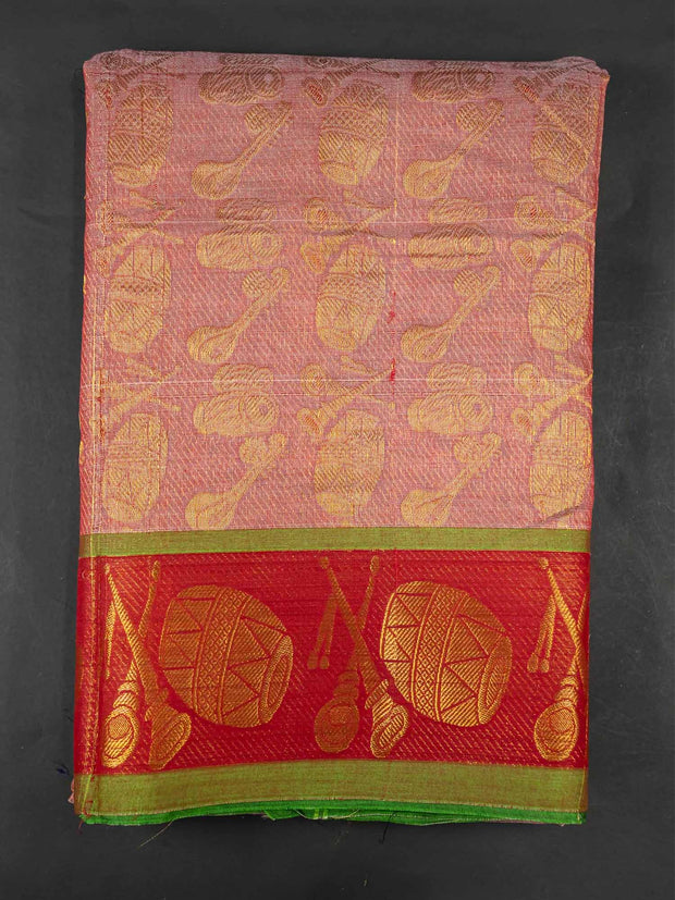 Grey Narayanpet Handloom Mercerized Saree With Blouse