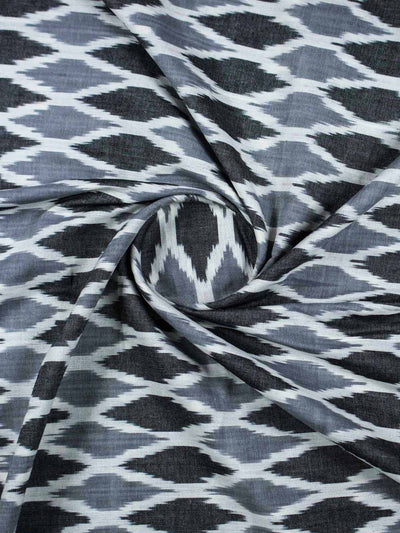 Ikat Cotton Woven Fabric