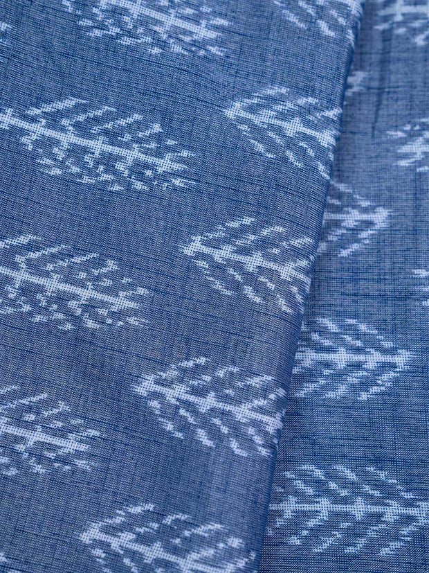 Denim Blue Rayon Printed Fabric