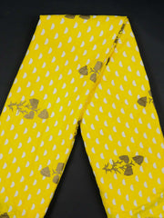 Yellow Rayon Printed Fabric