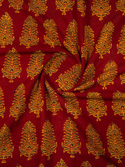 Ajrakh Cotton Block Printed