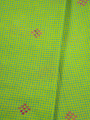 Green Checkered Cotton Jacquard