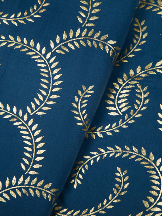 Blue Cotton Printed Fabric