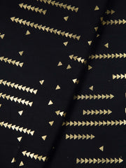 Black Cotton Printed Fabric