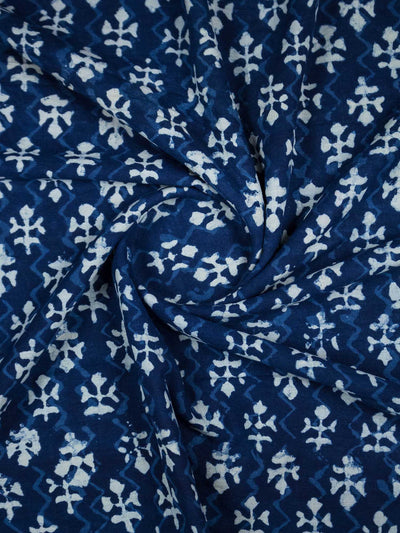 Handblock Cotton Indigo Fabric
