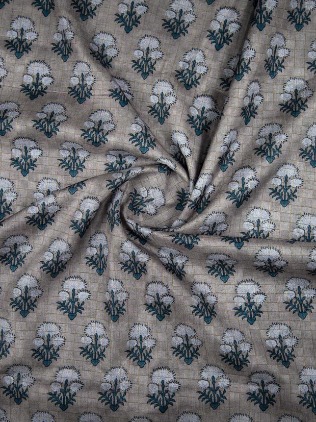 Silk Jute Checkered Fabric
