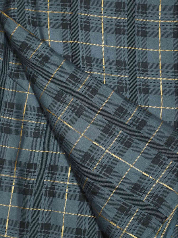 Rayon Flux Checkered Fabric ( Pre Cut Of 1.0)