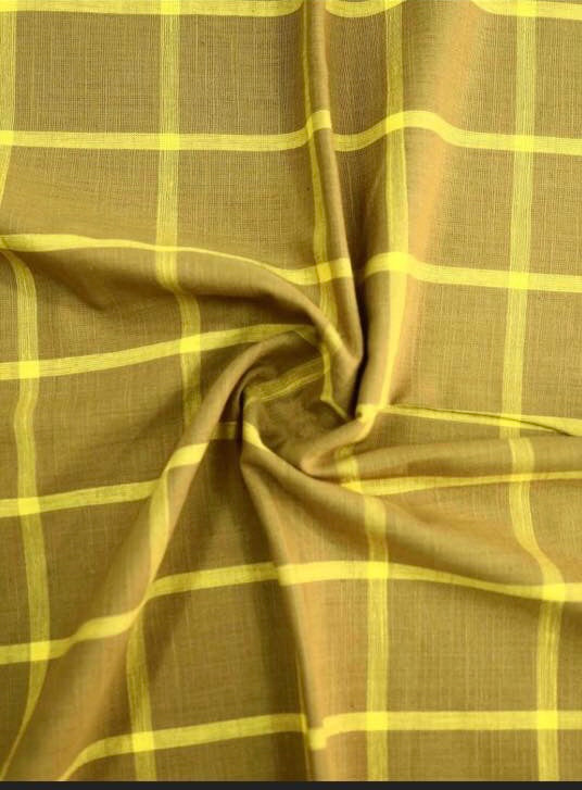 Cotton Checkered  Fabric ( Pre Cut Of 2.5)