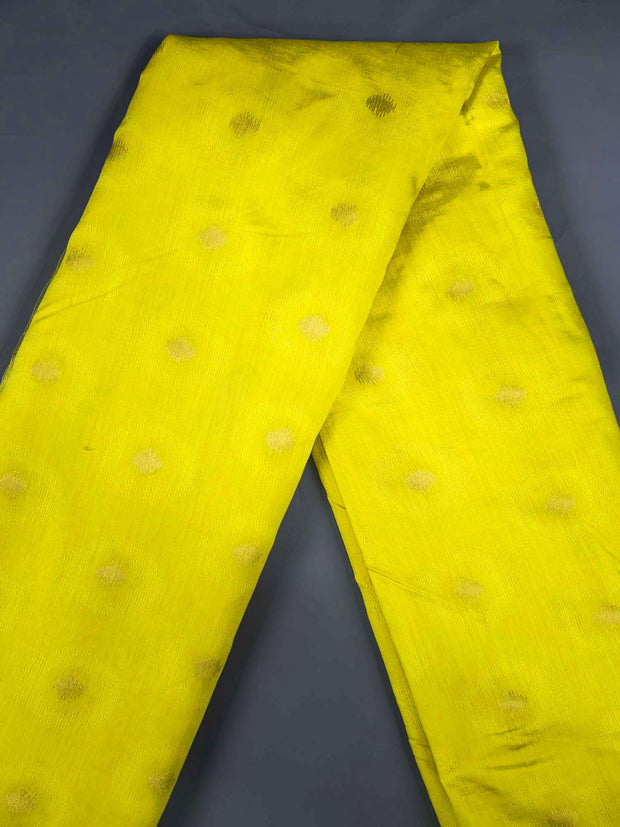 Yellow Soft Silk Woven Fabric