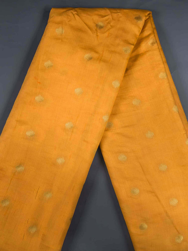 Orange Soft Silk Woven Fabric