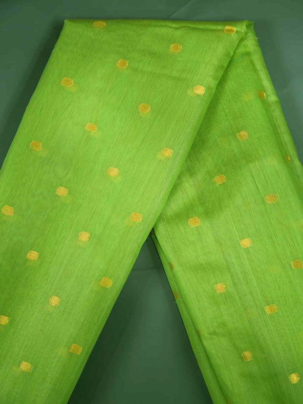 Green Soft Silk Woven Fabric