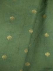 Russian Green Soft Silk Woven Fabric