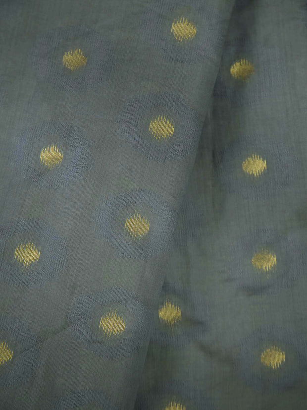 Grey Soft Silk Woven Fabric