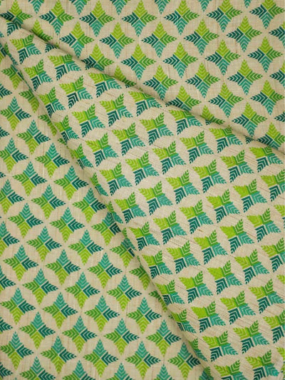 Cotton Flux Mughal Printed Fabric