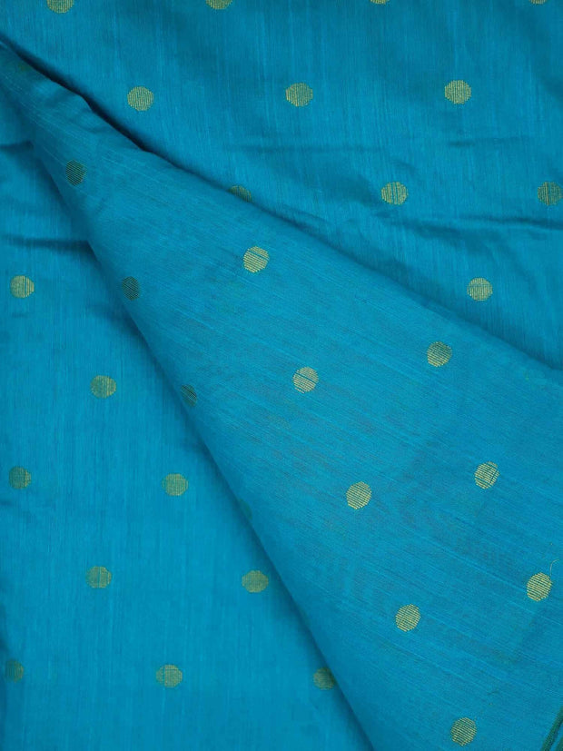 Dupion Long Slub Gold Buta Fabric