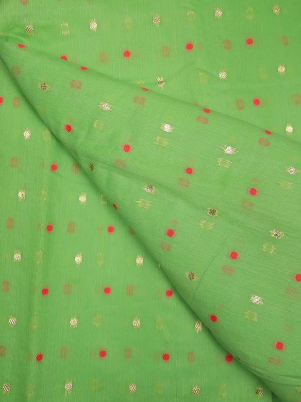Jacquard Chanderi Silk Fabric