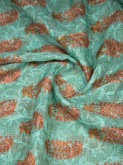 Kota Embroidered Printed Fabric