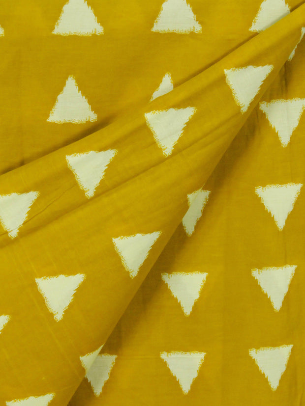 Mustard Triangle Printed Fabric