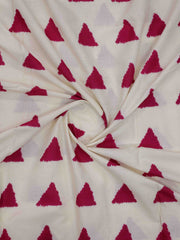 Pink Triangle Printed Fabric