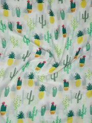 Pure Cotton Mul Printed Fabric