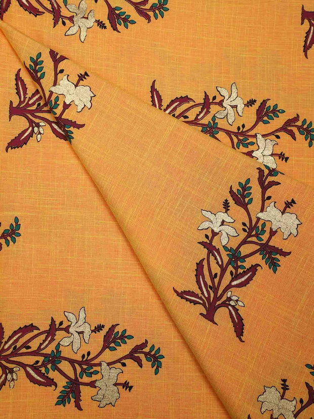 Rayon Flux Printed Fabric