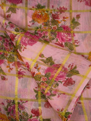 Semi Linen Digital Printed Fabric