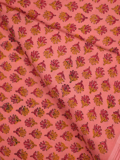 Soft Cotton Block Printed Fabric