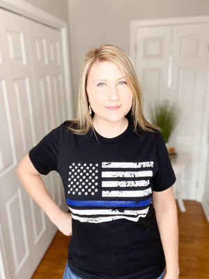 Thin Blue Line Graphic Tee