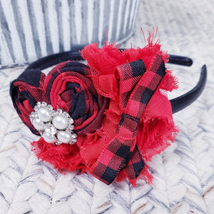 Red Plaid w/Bow