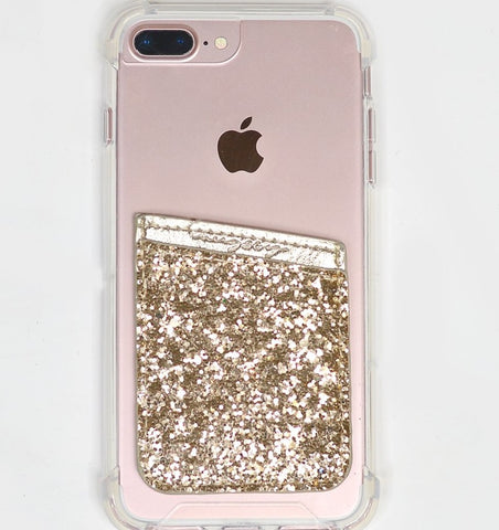 Gold Sparkly Phone Wallet