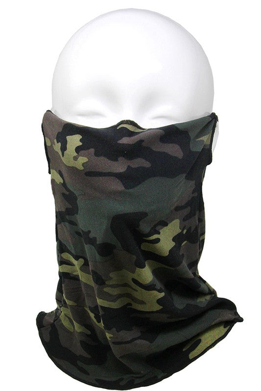 Adult Tube Face Covering - Green Camo
