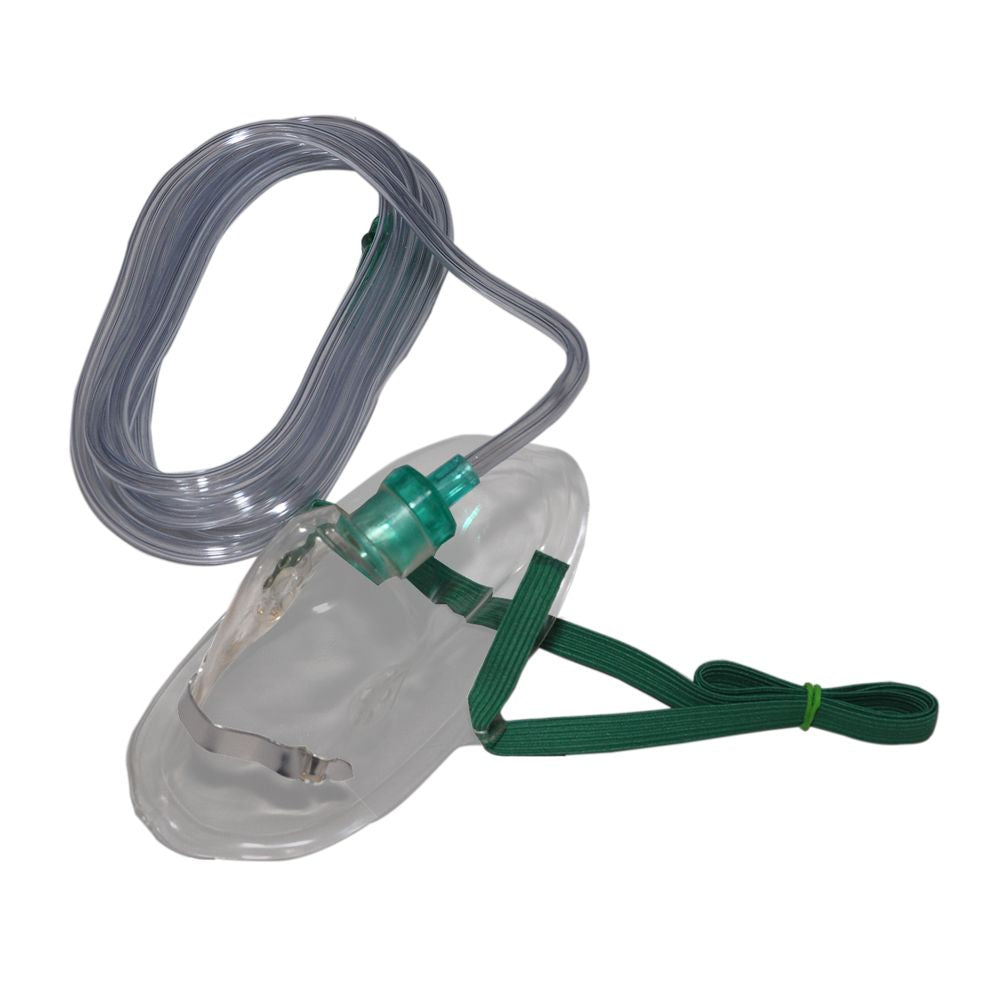 New Oxygen Mask with 7 foot Oxygen Hose - Case of 50