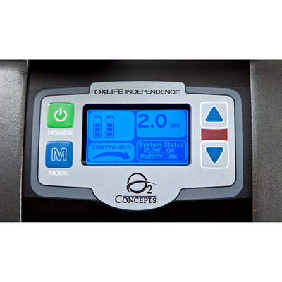 Oxlife Independence Portable Oxygen Concentrator Screen