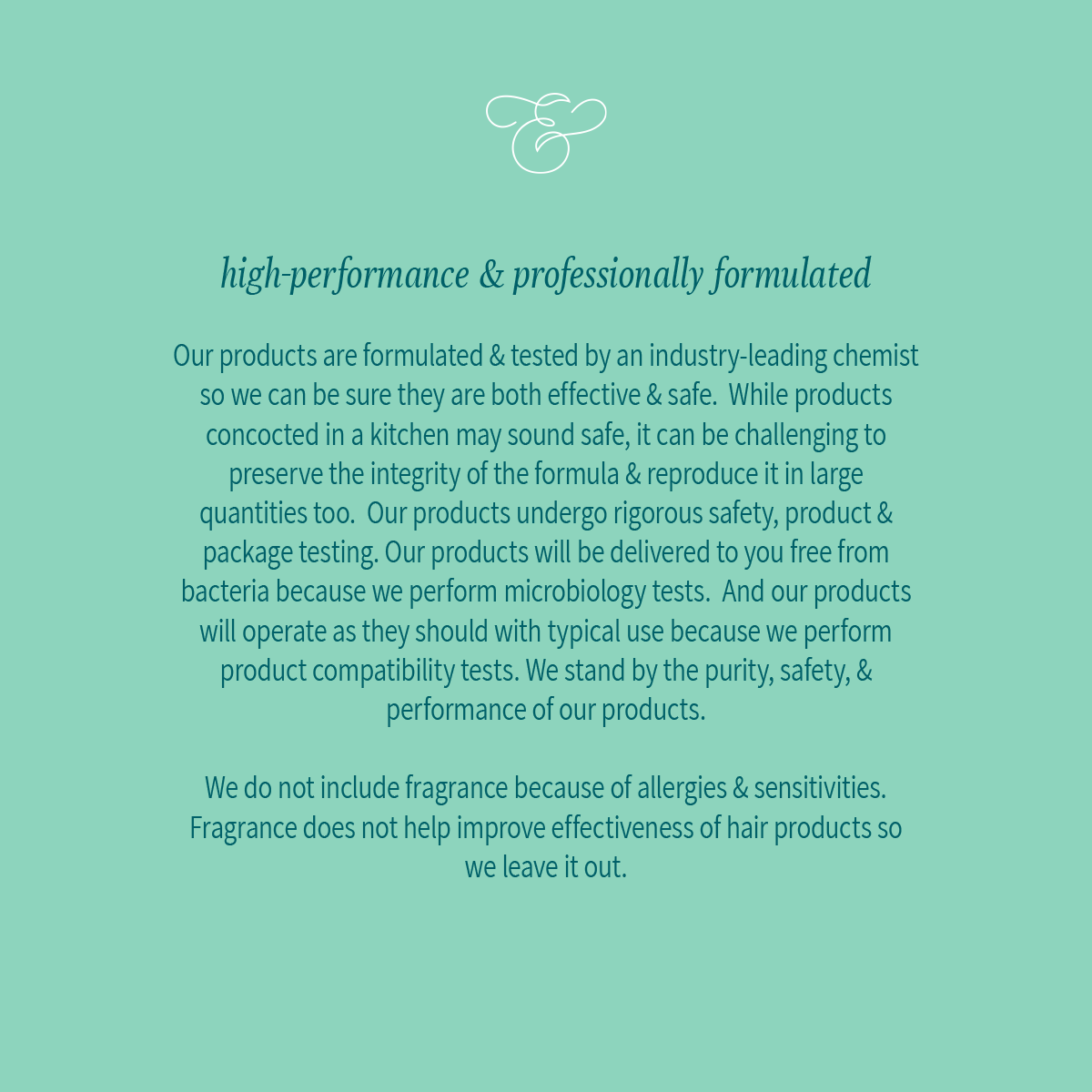high-performance & professionally formulated